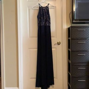 WORN ONCE Midnight Blue Evening Gown/Prom Dress